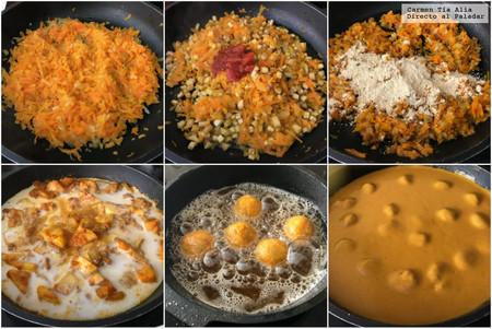 Paso A Paso Albondigas De Verduras En Salsa De Curry