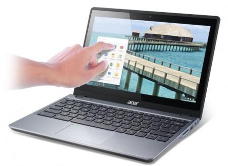 Acer C720P Chromebook, con pantalla táctil