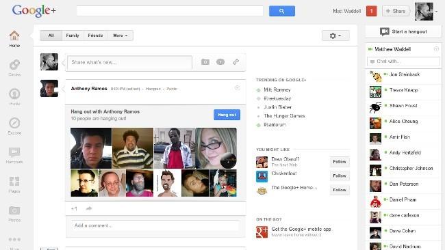 El nuevo diseño de Google+, a fondo