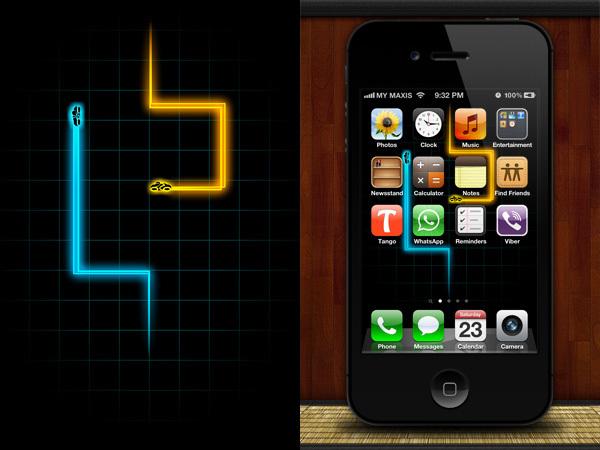 Fondo para el iPhone de Tron