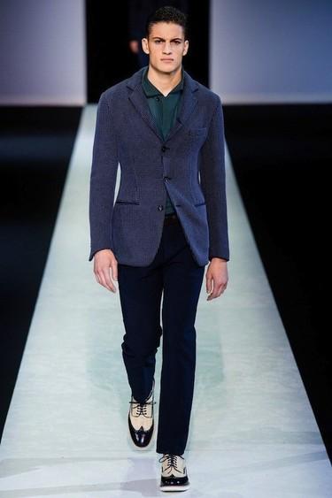 Giorgio Armani Primavera-Verano 2014: azul que te quiero azul