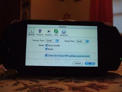 iTunes para PSP