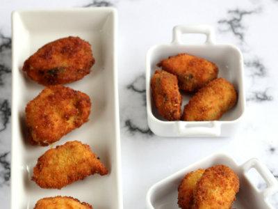 Mejillones empanados. Receta de aperitivo