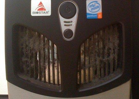 Mantener limpios los conductos ventilización en los equipos informáticos