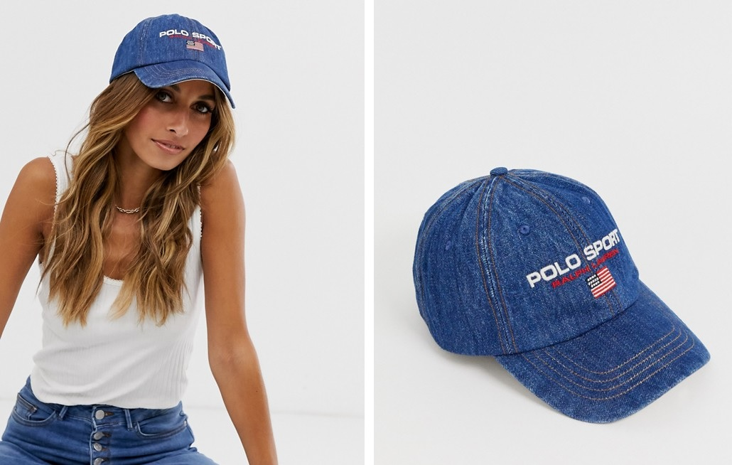 Cap cowgirl with flag Polo Sport
