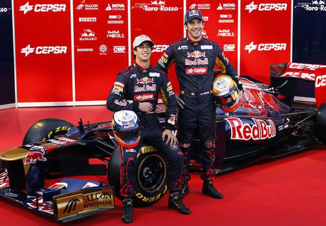 Toro Rosso Presentación 2012 Ricciardo Vergne