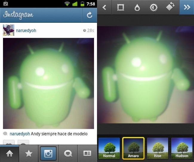 Instagram desenfoque Android
