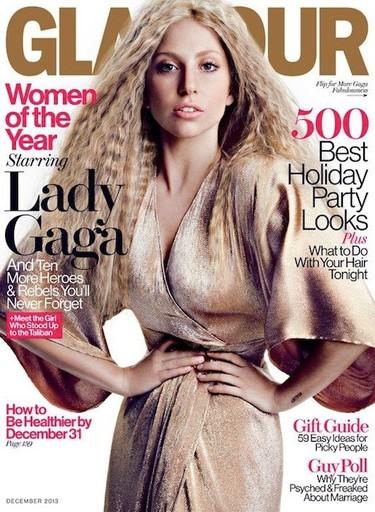¡Albricias! Lady Gaga vestida como dios manda en la portada de la revista Glamour