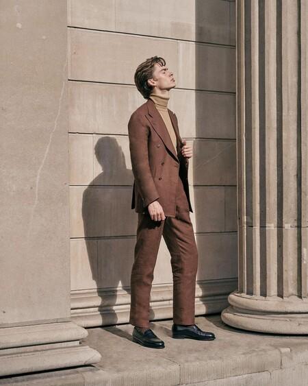 El Mejor Street Style De La Semana Brown Suit Trendencias Hombre 09