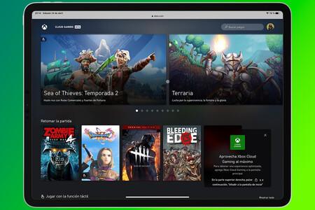 Xbox Cloud Gaming en iPad