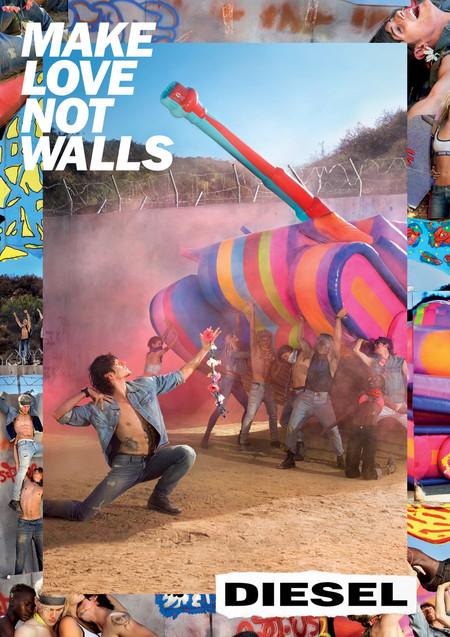 """""""Make Love not Walls"""" la nueva campaña de Diesel es una oda a la unidad y el amor"""