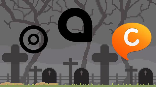 El cementerio de la mensajería instantánea: de ChatON a Allo pasando por Facebook Poke