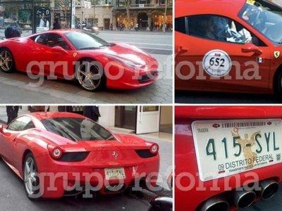 La singular historia del Ferrari 458 Italia que circula en Europa con placas sobrepuestas del Distrito Federal
