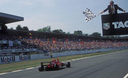 Gerhard Berger 1994 Hockenheim - Llegada