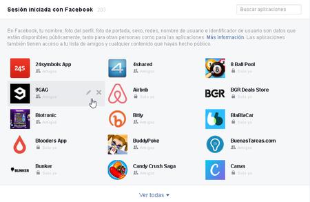 Acceso de apps a información de Facebook