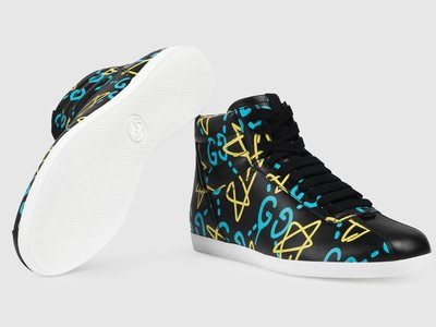 El lenguaje del graffiti para una zapatilla deportiva de Gucci