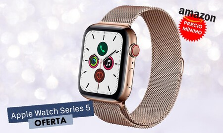 Acero dorado, Milanese Loop y conectividad LTE: el Apple Watch Series 5 de 44mm más barato que nunca en Amazon. Ahora por 536 euros