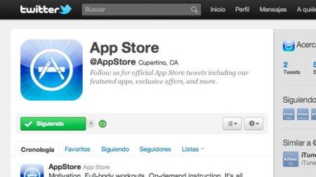 Apple abre la cuenta de twitter oficial de la App Store