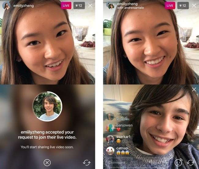 Instagramlivevideorequesttojoinfriendviewios