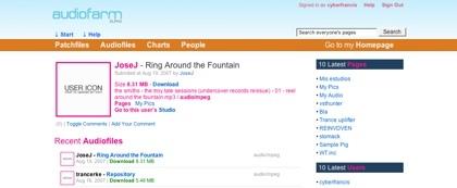 Audiofarm, creación de páginas relacionadas a temas sonoros