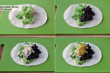 Burritos Alubias Negras. Pasos
