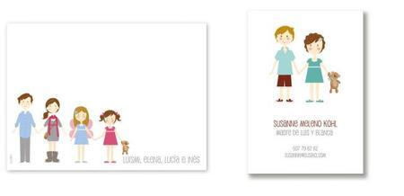 Sorprende con tarjetas personalizadas de tu familia