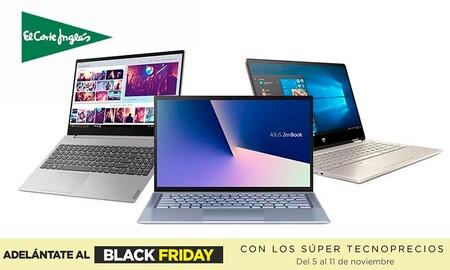 El Corte Inglés te adelanta el Black Friday con rebajas en portátiles Lenovo, HP o MSI