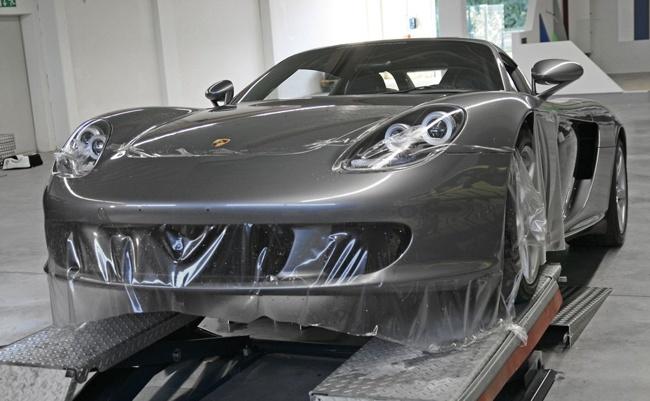 Porsche Carrera GT con láminas de protección de la pintura 02